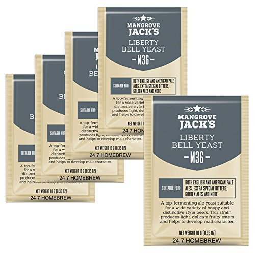 5x Mangrove Jack's Craft Series Yeast M36 Liberty Bell Ale 10g)