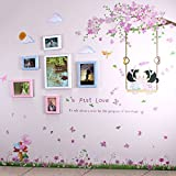 TIANTA- Children Room Real Wood Frame Wall Simple Modern Photo Wall Stickers Bedroom Restaurant Creative Personality Fashion Cute Photo Wall adorn ( Color : #1 )