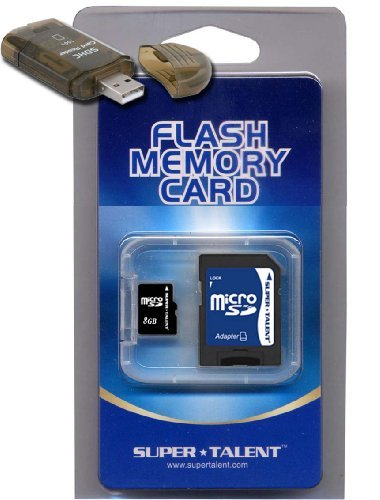 8GB Micro SD MicroSD Memory Card For Palm Treo Pro/800w. High Speed Memory Card, Free USB Adapter.