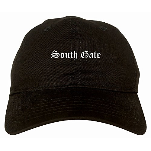 Kings Of NY South Gate City California 6 Panel Dad Hat Black (South Gate City)
