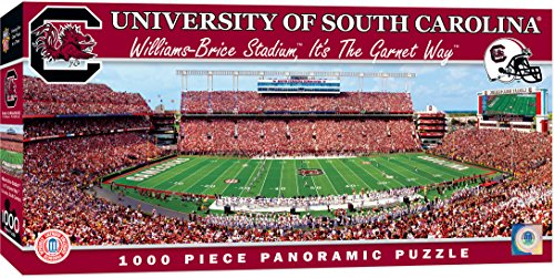 MasterPieces Collegiate South Carolina Gamecocks 1000 Piece Stadium Panoramic Jigsaw Puzzle South Carolina Football