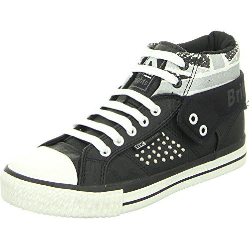 British women trainer black Sneaker british flag Negro 3722 02 BK Knights B40 ROCO 46qwag4r