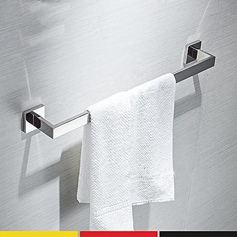 Barra de Toalla de baño JiSuQiCheFuWu 304 Acero Inoxidable Colgador de Toallas de baño toallero Estante toallero Doble Palanca Palanca única toallero: ...