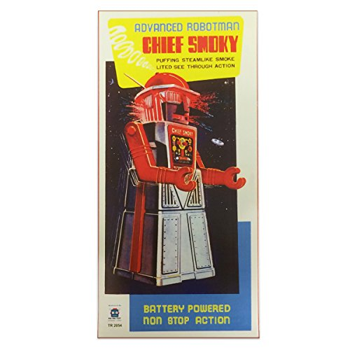 Off the Wall Toys Vintage Style Collectible Chief Smoky Robot - Silver Robotman by Off the Wall Toys (Image #4)