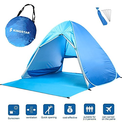 Kingstar Waterproof 2-3 Person Pop Up Beach Tent Portable Folding Automatic Instant Sun Shelters Family Backpacking Hiking C&ing Tent Outdoor Ultralight ...  sc 1 st  Hiking Gear Store & Kingstar Waterproof 2-3 Person Pop Up Beach Tent Portable Folding ...