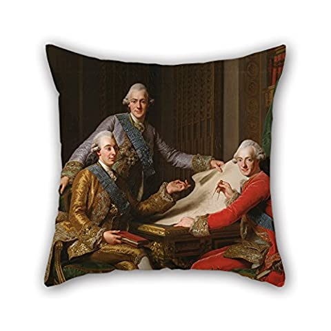 Loveloveu Throw Pillow Covers Of Oil Painting Alexander Roslin - King Gustav III Of Sweden And His Brothers,for Sofa,dining Room,gril Friend,bar,kitchen,wife 16 X 16 Inches / 40 By 40 Cm(two (Alexander Wang Duffle)