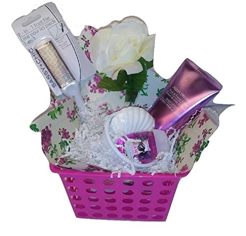 Purple Pink Passion April Bath & Shower Scented Body Lotion Bath & Body Works Mother's Day Women's Gift Basket Bundle Set