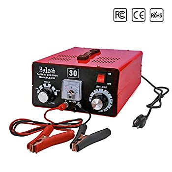 Image of Battery Charger 12V/24V/36V/48V/60V/72V Automatic Maintain, 40-200Ah 15Amp, Volt-Current Manually Adjusted, with Clips Ammeter, Suitable for Golf Cart Car Truck RV Marine Yacht Mower AGM SLA ATV Battery Chargers