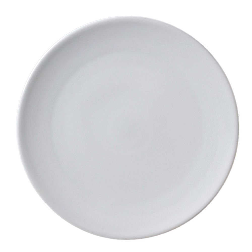 Vertex China ARG-P3 Market Buffet Pizza Plate (Flat Shape) with Rim, 10'', Porcelain White (Pack of 12) by Vertex China