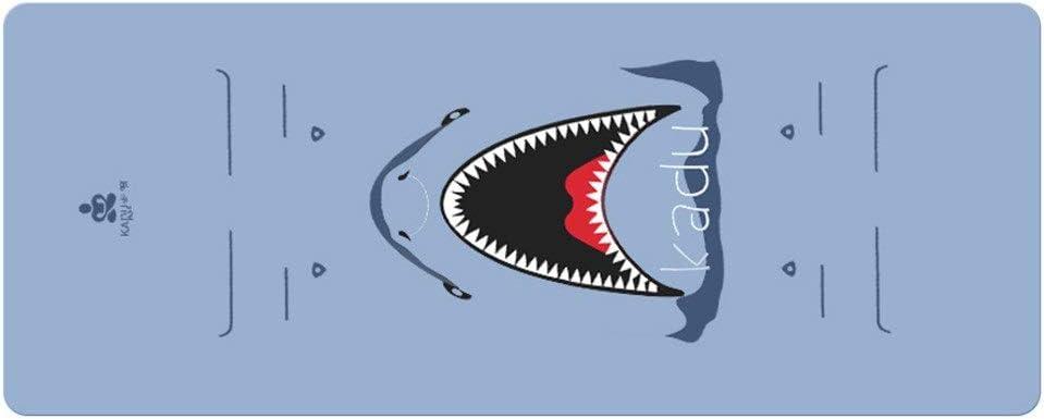 ヨガマット 両面滑り止めヨガエクササイズマット環境に優しい天然ゴム ダンスマット (色 : 青, サイズ : 185cm*68cm*5mm) 青 185cm*68cm*5mm