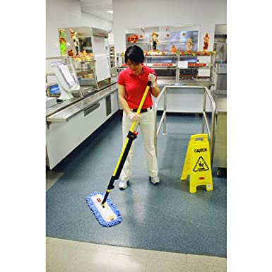 Yellow Rubbermaid HYGEN Quick Connect Short Extension Mop Handle