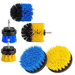TOOGOO 6-Pcs Drill Brush Attachment Set, Power Scrubber Brushes Cleaning Kit for Bathroom Surfaces Tub, Shower, Tile and Grout