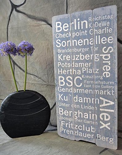 Image Hamburg New York Berlin Wooden Sign Wall Plaque Shabby Chic Vintage  Wooden Wood 80 X