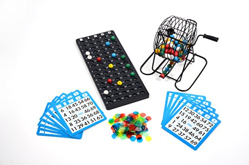 Fantastic Deal! Regal Games Deluxe Bingo Cage Game Set - 8-Inch Metal Cage with Plastic Masterboard,...