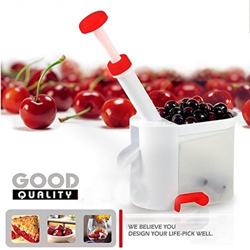 4 In 1 Cherry-Grape-Cranberry and Olive Pitter - Set of 6 by Edge home