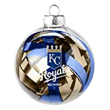 MLB Kansas City Royals Large Tinsel Ball Ornament