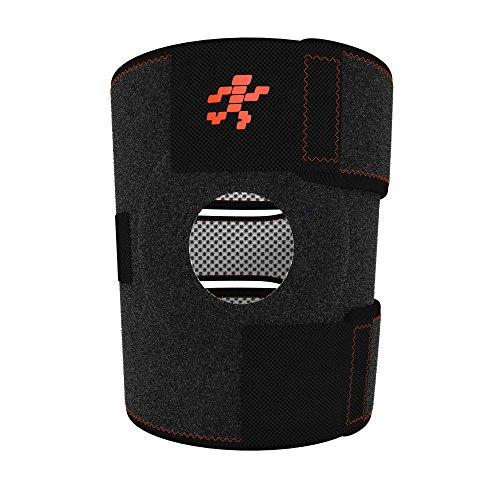 (Uflex Best Knee Brace & Support Open Patella,One Size Adjustable, Neoprene Sports Compression, relieves Joint Pain and Treats Arthritis, Acl Tear, Meniscus Tear, Tendonitis, Bonus Ankle Brace)
