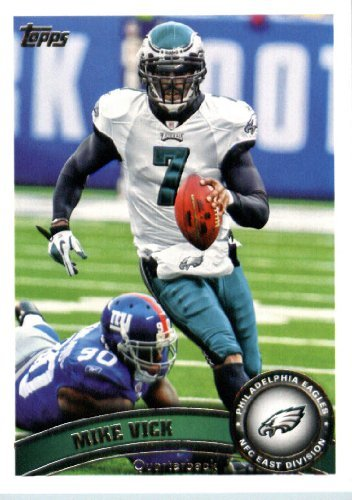 2011 Topps Football Card # 440 Michael Vick - Philadelphia Eagles - NFL Trading Card in a Protective - Football 2011 Cards