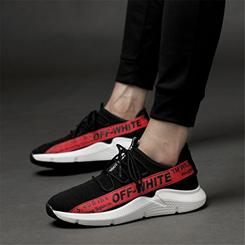 Chaussures de Toile pour Hommes Printemps Automne Confort Baskets à Lacets pour Les Chaussures de Marche en Plein B kYTiyFw