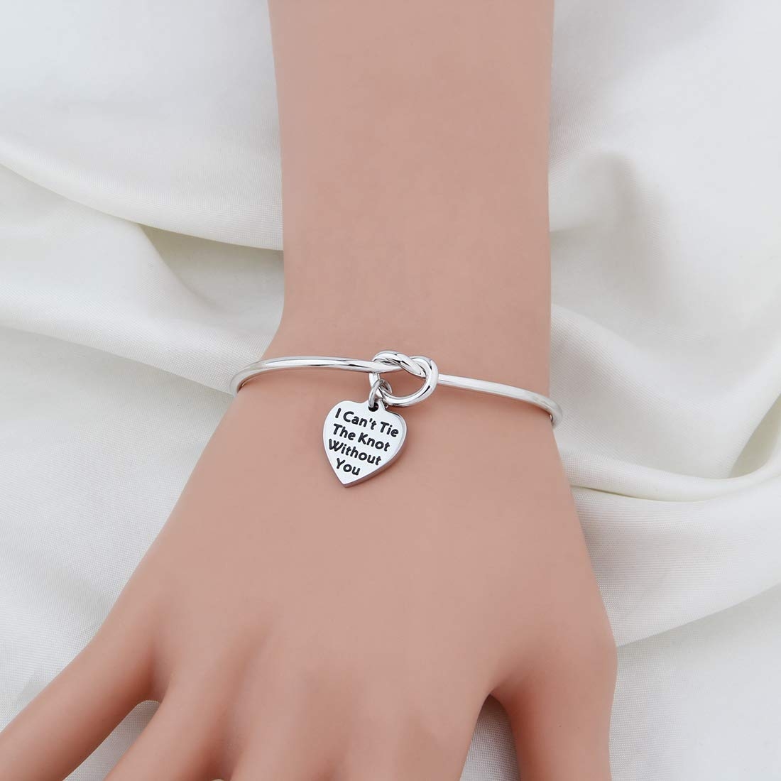 WUSUANED I Cant Tie The Knot Without You Bridesmaid Bracelet Wedding Jewelry Bridal Party Gift