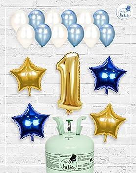 Bombona de Helio Mrhelio+Globos cumpleaños Niño números