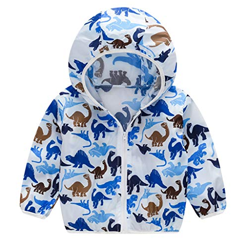 (Sherostore ♡ Unisex Kids UV/Sun Protection Zipper Hoodie Coat Lightweight Ultrathin Windbreaker Jacket for Travel Beach)