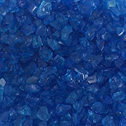 Miniature Fairy Garden Mirror Glass Pebble Aggregates Crystal Sand River Rock 50-60g Ocean Deep Blue for Aquarium Fish Tank Decorations, Fantastic Garden or Yard, Resin Making Jewel Crafting Project