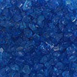 Miniature Fairy Garden Mirror Glass Pebble Aggregates Crystal Sand River Rock 50-60g Ocean Deep Blue for Aquarium Fish Tank Decorations, Fantastic Garden or Yard, Resin Making Jewel Crafting Project Review