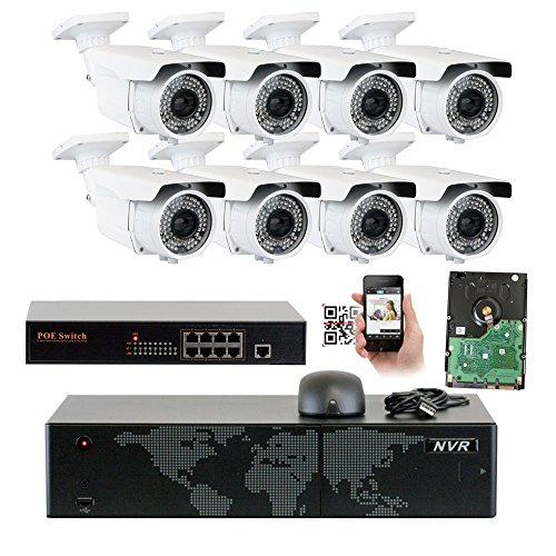 5MP  8 Channel 1920P NVR PoE Outdoor Security Camera System