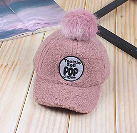 Sombreros Y Gorras Nueva Gorra Rosa para Niños Gorro Cálido ...