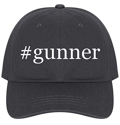 The Town Butler #Gunner - A Nice Comfortable Adjustable Hashtag Dad Hat Cap, Dark Grey