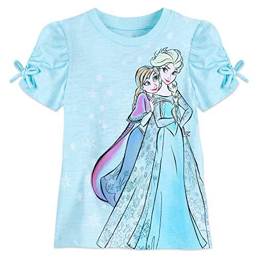 Disney Anna and Elsa T-Shirt for Kids Size L (10/12) Multi -