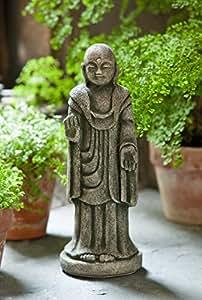 Campania International OR-125-AL Artifact Buddha Statuary, Aged Limestone Finish