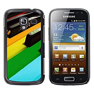 Be Good Phone Accessory // Dura Cáscara cubierta Protectora Caso Carcasa Funda de Protección para Samsung Galaxy Ace 2 I8160 Ace II X S7560M // Piano Keys Colorful Art Modern Design