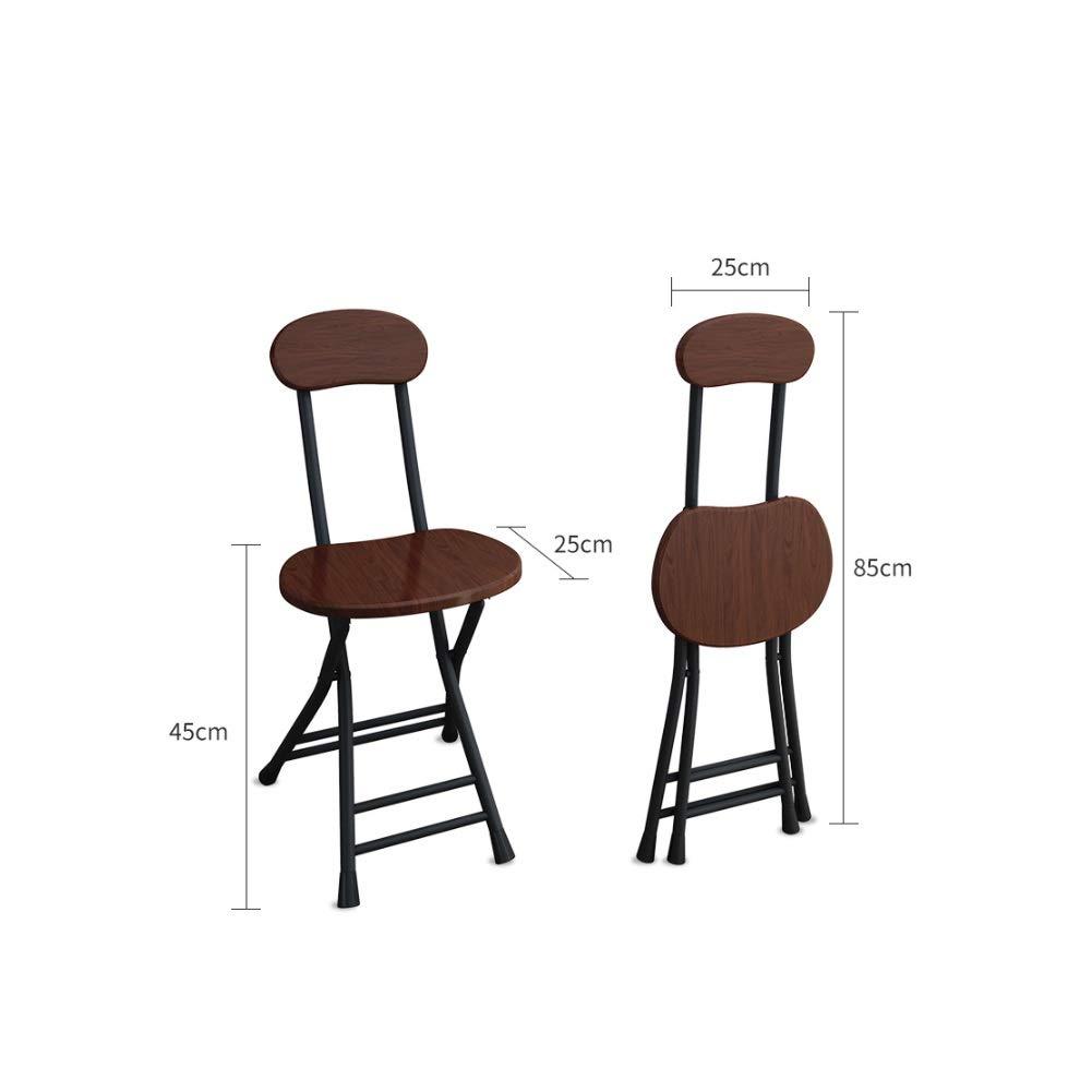 Fuskläder vadderad hopfällbar stol robust metallram matstol pall, kontor och dator ryggstol student sovsal stol enkel datorstol hopfällbar pall (färg: Bambuträ) Bambuträ