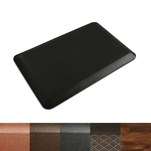 "Kitchen Mat | Anti Fatigue Mat, 3/4 Thick | Ergonomically Engineered, Non-Slip, Waterproof | 20""x39"" - Black"