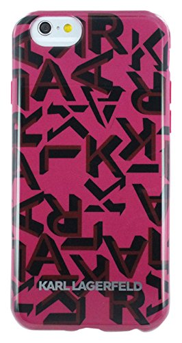 Karl Lagerfeld KLHCP6KAOP K Signature TPU Hard Case für Apple iPhone 6/6S 11,9 cm (4,7 Zoll) rosa