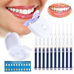 Gel Blanqueador Dental sin Peróxido Kit Blanqueador Dental, Contra Dientes Amarillos, Manchas de Humo, Dientes Negros