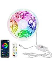 Hoteril taśma LED, 6 m, Bluetooth, pilot zdalnego sterowania i sterowanie aplikacją, funkcja timera, taśma LED z 16 milionami kolorów, 213 trybów stylu do domu, jako dekoracja TV, kuchni, na sufit, na imprezę