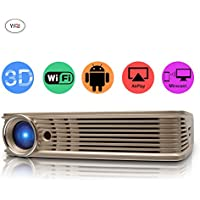 CPX-I5 DLP Home Theater Projector, Mini Video Projector 1080P Portable Wi-Fi Smart Pico Projector, Max 120 Screen Ideal for IOS/ Android/ Laptop/ iPad/ USB flash driver/PC devices