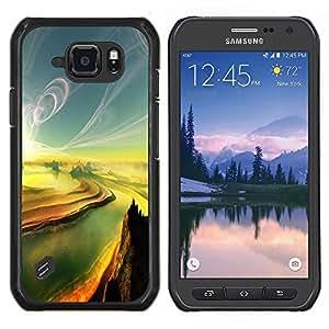 Stuss Case / Funda Carcasa protectora - Pintura Sunset Canyon Grand River - Samsung Galaxy S6 Active G890A