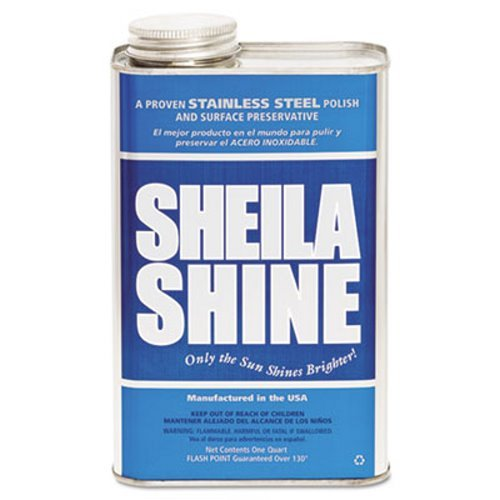 Sheila Shine Stainless Steel Cleaner & Polish, 1Gal Can, 4/Carton by Sheila Shine