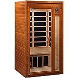 DYNAMIC SAUNAS AMZ-DYN-6106-01 Barcelona 1-2 Person Far Infrared Sauna - Curbside Shipping