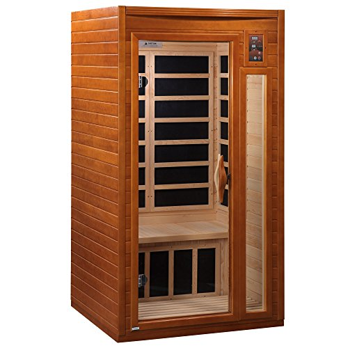 DYNAMIC SAUNAS AMZ-DYN-6106-01 Barcelona 1-2 Person Far Infrared Sauna - Curbside Shipping (Jnh Lifestyles 2 Person Far Infrared Sauna)