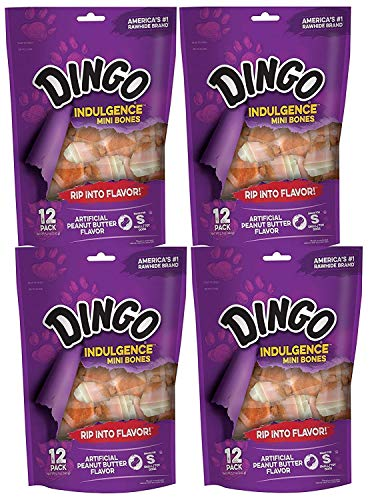 (Dingo Indulgence Mini Bones, Peanut Butter Flavor, 48-Count)