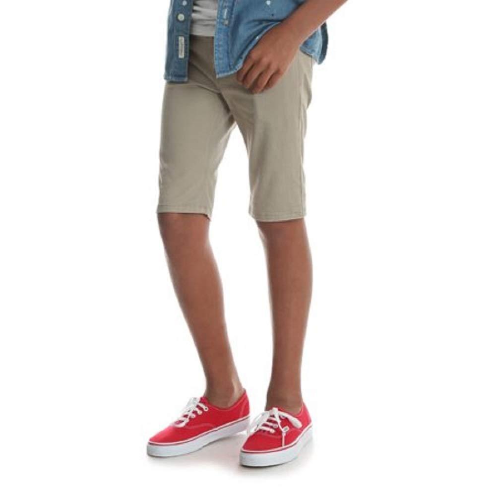 Wrangler Boys Slim Straight Khaki Shorts