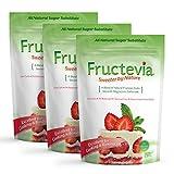 Fructevia - 1 lb bag/3 pack - Fructose, Inulin & Stevia Blend - NonGMO Low Carb Sweetener