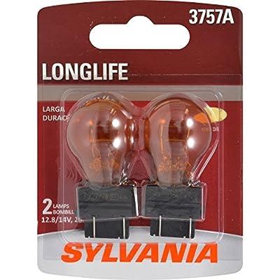 SYLVANIA 3757A Amber Long Life Miniature Bulb, (Contains 2 Bulbs)