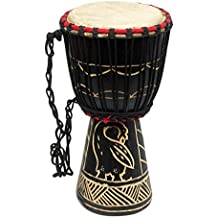 NOVICA Animal Themed Wood Drums, Brown, 'Revival'
