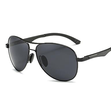 BVAGSS Herren Retro Aviator Stil Polarisierte Sonnenbrille 100% UV400 Schutz (Black Frame With Gray Lens) DJkr2zc7uU
